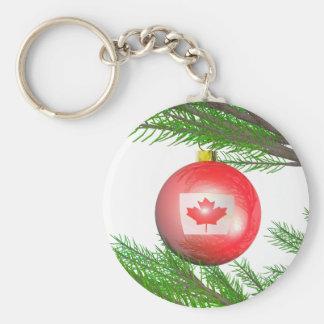 Canadian Christmas Tree Decoration Keychain