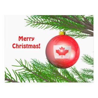Canadian Christmas Tree Decoration Postcard