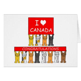 Canadian citizenship congratulations. greeting card