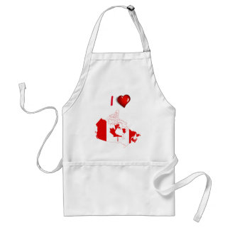 Canadian country flag adult apron