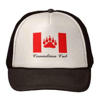 Canadian Cub Canadian Flag With Bear Paw Mesh Hats