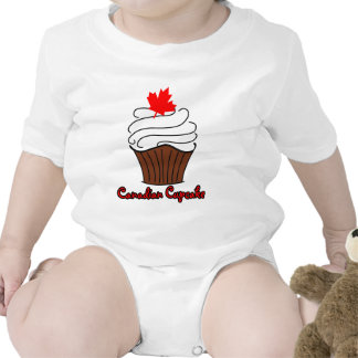 Canadian Cupcake Baby Bodysuits