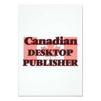 Canadian Desktop Publisher 3.5x5 Paper Invitation Card