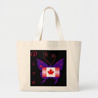 Canadian Diva Butterfly Large Tote Bag