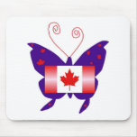 Canadian Diva Butterfly Mouse Pad