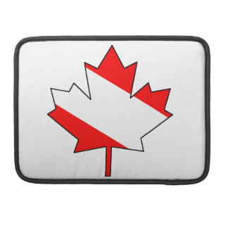 Canadian Diver Flag /Maple Leaf (TM) Sleeve For MacBook Pro