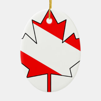 Canadian Diver Maple Leaf (TM) Clear Ceramic Ornament