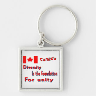 Canadian diversity keychains