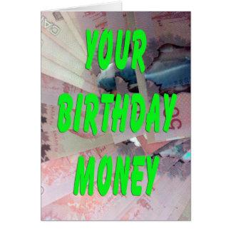Canadian Dollars Birthday Money Card