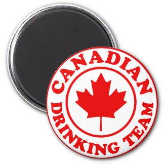 Canadian Drinking Team 2 Inch Round Magnet