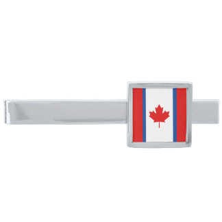 Canadian Duality Flag Tie Clips