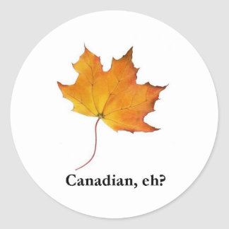 Canadian, eh? classic round sticker