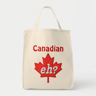 Canadian Eh? Grocery Tote Bag