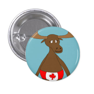 Canadian, Eh? Moose Pinback Button