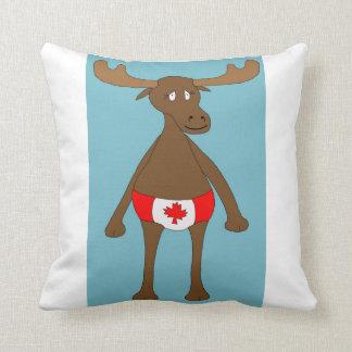 Canadian, Eh? Moose Throw Pillow