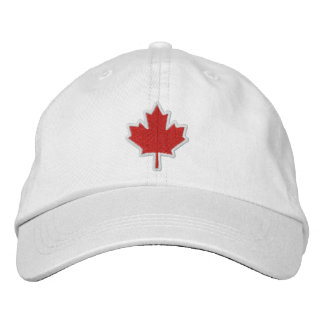 Canadian Embroidery Embroidered Maple Leaf Cap