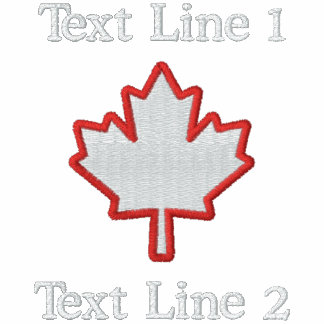 Canadian Embroidery Maple Leaf Personalize it! Polos