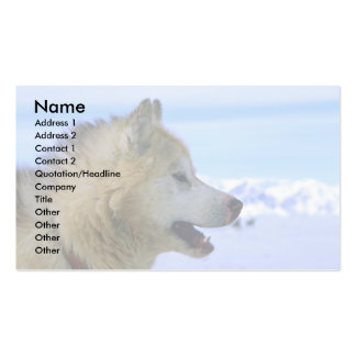 Canadian Eskimo sled dog Business Card Template