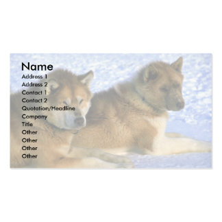 Canadian Eskimo sled dogs Business Card Template