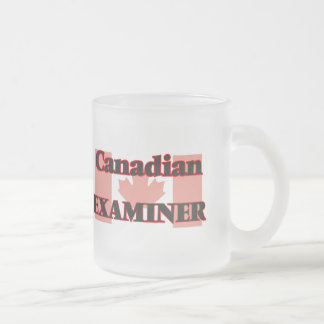 Canadian Examiner 10 Oz Frosted Glass Coffee Mug