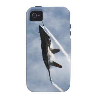 Canadian F-18 Hornet Jet Fighter Action Photo Vibe iPhone 4 Cover