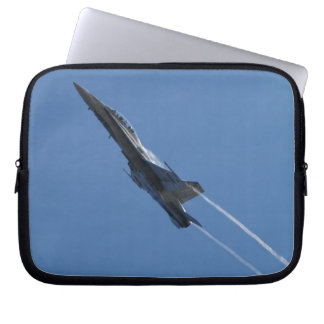 Canadian F-18 Hornet Jet Fighter Action Photo Computer Sleeve