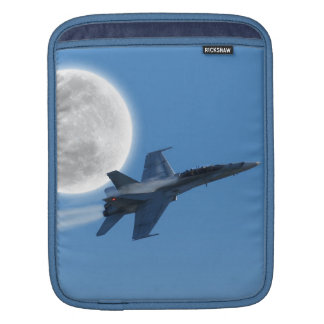 Canadian F-18 Hornet Jet Fighter Action Photo iPad Sleeve