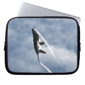 Canadian F-18 Hornet Jet Fighter Action Photo Laptop Sleeve
