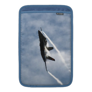 Canadian F-18 Hornet Jet Fighter Action Photo MacBook Air Sleeve