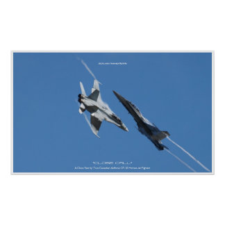 Canadian F-18 Hornet Jet Fighter CLOSE CALL Poster