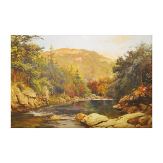 Canadian Fall by Otto Reinhold Jacobi 1870 Canvas Print