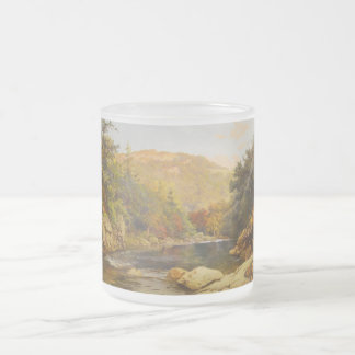 Canadian Fall by Otto Reinhold Jacobi 1870 Frosted Glass Coffee Mug