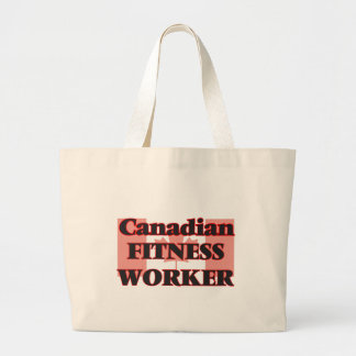 Canadian Fitness Worker Jumbo Tote Bag