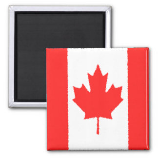 Canadian Flag 2 Inch Square Magnet