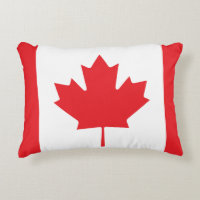 Canadian Flag Accent Pillow