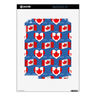 Canadian Flag and Motto iPad 2 Decal