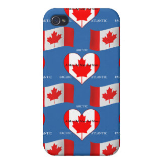 Canadian Flag ans Motto iPhone 4/4S Case