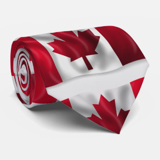 Canadian Flag Artwork Tie