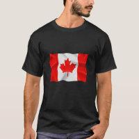 Canadian Flag - Basic Dark T-Shirt