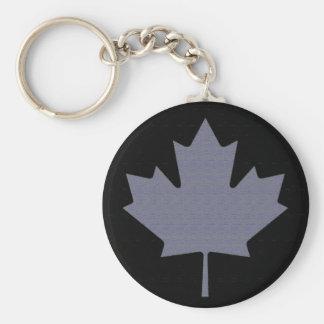 Canadian Flag Basic Round Button Keychain