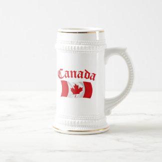 Canadian Flag Beer Stein