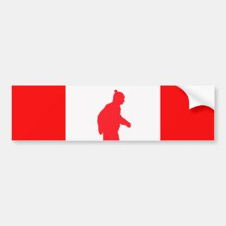 """Canadian"" Flag Bumper Sticker"