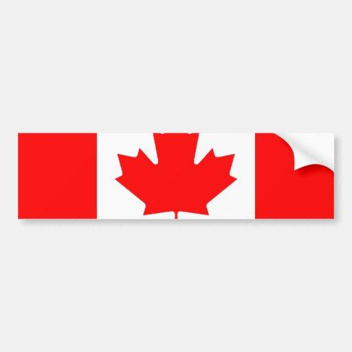 Canadian Flag Bumper Sticker Car Bumper Sticker