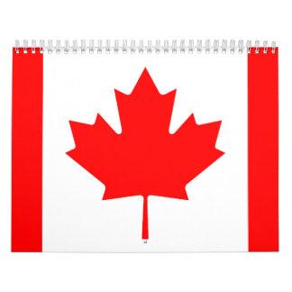 Canadian Flag Calendar