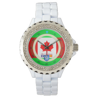 Canadian Flag Canada Port Richman Nautical Wrist Watch