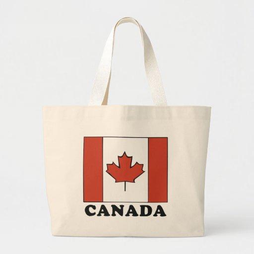 Canadian Flag Canvas Bag