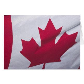 Canadian Flag. Card
