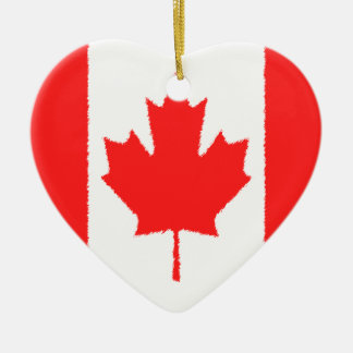 Canadian Flag Ceramic Ornament