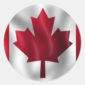 Canadian Flag Classic Round Sticker
