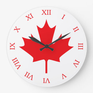 Canadian Flag Wallclocks
